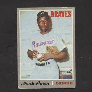 1970 Hank Aaron Card #500 Topps Atlanta Braves HOF